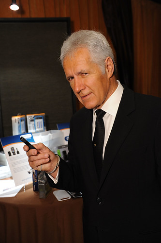 Alex Trebek at the Griffin table
