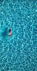 azul (californiabirdy) Tags: blue water pool azul swimming swim canon hotel saturated pov ripple getty ripples overhead height