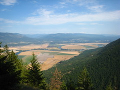 Pondereillie Valley from Parker Ridge Trail, Selkirk Mountains, North Idaho.
