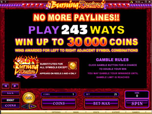 free Burning Desire bonus game