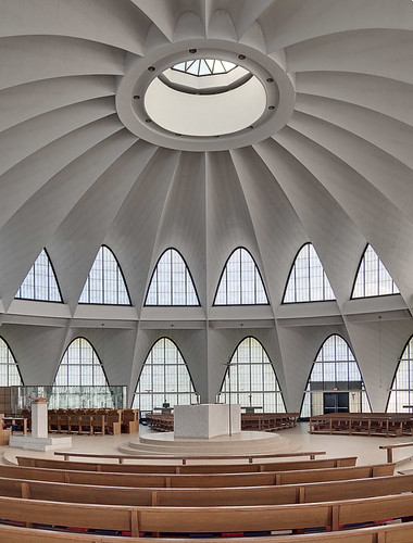Saint Anselm Roman Catholic Parish, in Creve Coeur, Missouri, USA - interior- remastered