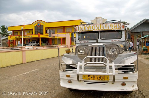 baras municipal hall and jeepney