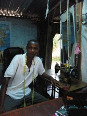 Sellu in his Shop, Freetown (Karen Hlynsky) Tags: sierraleone westafrica freetown karenhlynsky