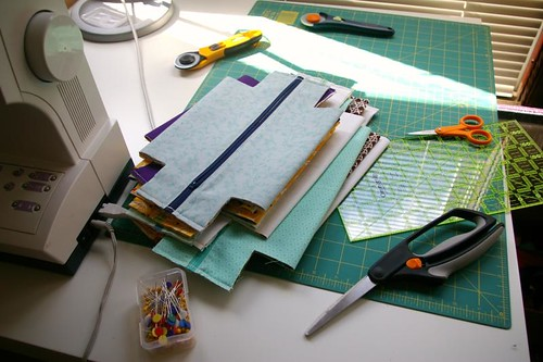 On my sewing table