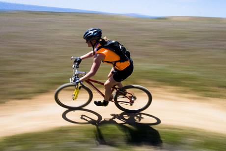 Mountain biking near Fruita as the world whizzes by