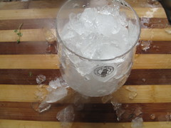 Crushed ice for plum smoothie