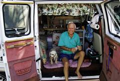67/365 (Miss Mary D) Tags: portrait man myrtlebeach poodle van camper