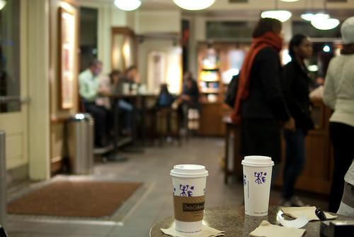 Drinks in Peets Coffee