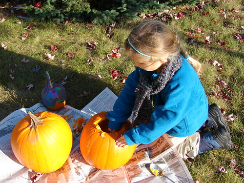 Carving Pumpkins - 2009