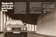 BMW 320 E21 (1980) (jens.lilienthal) Tags: auto classic cars car vintage print advertising media reclame ad voiture historic advertisement bmw oldtimer autos werbung reklame voitures 320 anzeige 3er youngtimer 323i e21