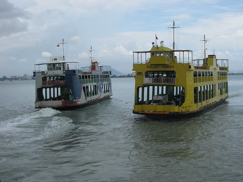 We hopped on the ferry from George Town to Butterworth