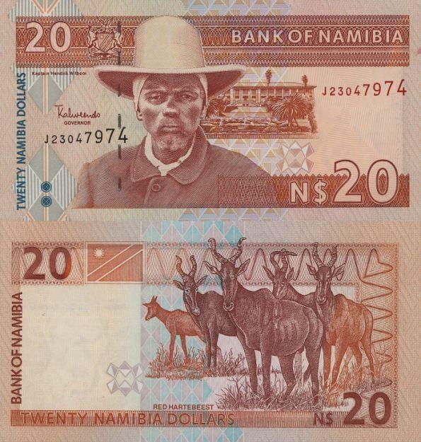 20 dolárov Namíbia 2002