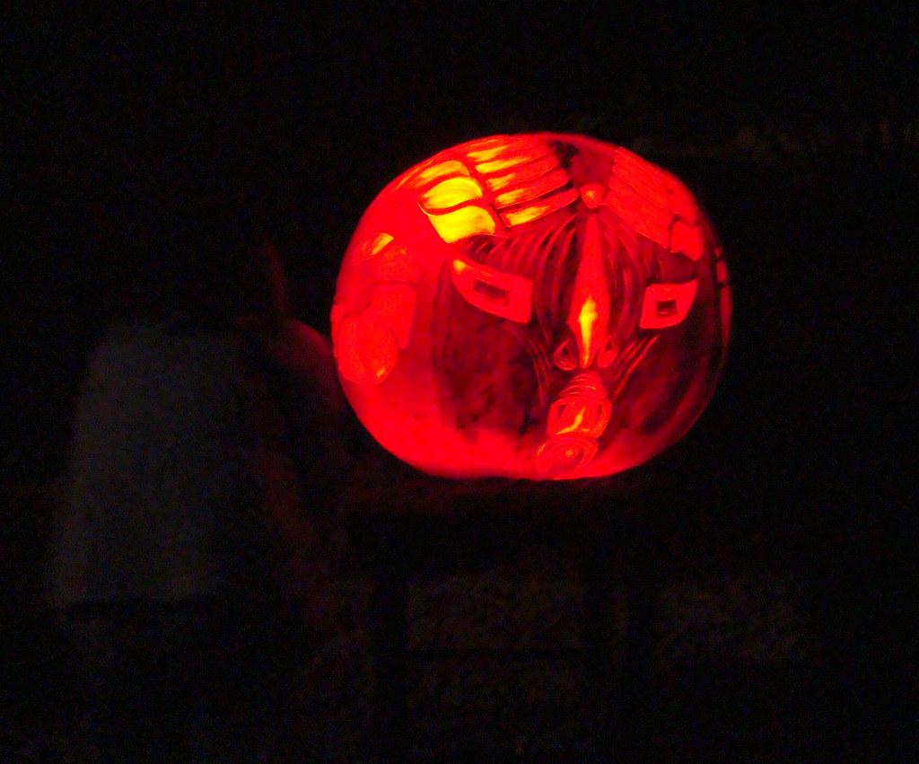 DSC02989 Giant Ram Pumpkin