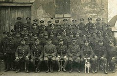 Soldiers (Doublegrub) Tags: old dog history war antique wwi strangers hats unknown oldphoto worldwarone soldiers uniforms past oldbuilding shutteredwindows