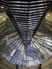 Berlin Reichstag dome (Mike G. K.) Tags: light berlin glass lines architecture night germany geotagged cone geometry room shapes mirrors meeting parliament reichstag seats dome hightech bundestag futuristic geo:lat=52518486 geo:lon=1337594