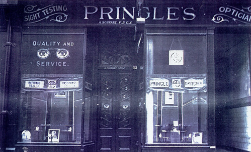 Pringle's Opticians,  Saltmarket, 1921.