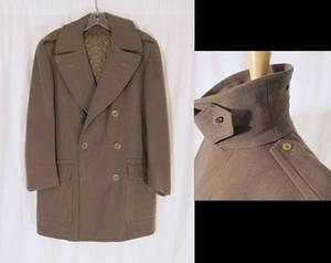 Vintage 1930s Wool Mackinaw Jacket Coat w/ Chin Strap
