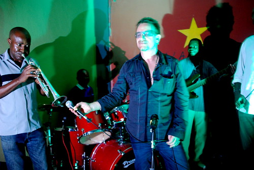 PRIVATE: Bono sings WOWY in Mozambique