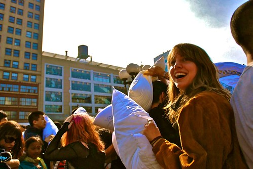 it's a beautiful day for pillow fights.