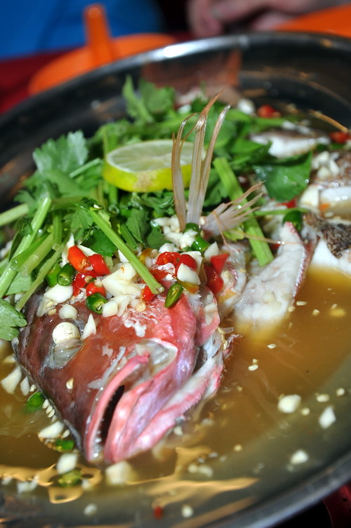 steamed lime fish
