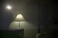 ethereal hotel room (robbymassey) Tags: reflection lamp lights hotel fuzzy ethereal hazy ghostlike