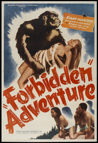 FORBIDDEN ADVENTURE one sheet