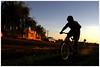 A pedal (Libertinus) Tags: street sunset bike backlight contraluz atardecer calle border picasa sigma bicicleta bici silueta frontera 30d artigas bellaunion