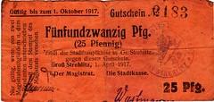 Strehlitz, 25 pf, 1917 (Iliazd) Tags: notgeld emergencymoney germanunflationarycurrency germanpapermoney
