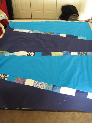 Sea Blue Sea quilt back