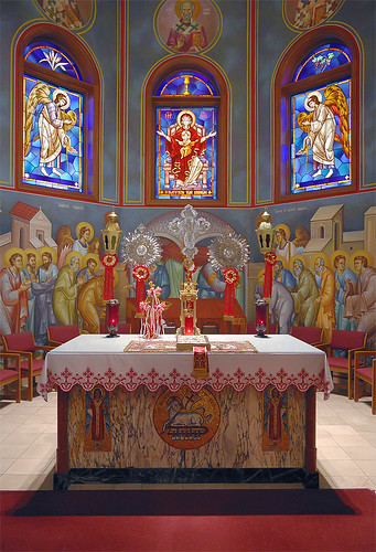 Assumption Greek Orthodox Church, in Town and Country, Missouri, USA - altar