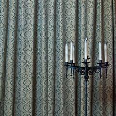 Unlit (Kenneth Ipcress) Tags: castle vintage scotland pattern candle stirling curtain scottish squareformat ironwork kenny ip