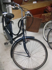Matte Blue Old Dutch 3-Speed with a Basket (ubrayj02) Tags: dutch bike flying losangeles los angeles pigeon bicycles cycle chic batavus flyingpigeon velocouture dutchbikes flyingpigeonla flyingpigeonlacom flyingpigeonlosangeles