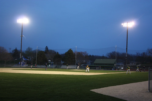 Got to see some local baseball at night