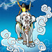"Indra<br /><span style=""font-size:0.8em;"">Hindu diety- King of the Gods riding his elephant Airavata<br />pencil, adobe illustrator & photoshop<br />2007</span> • <a style=""font-size:0.8em;"" href=""http://www.flickr.com/photos/35049136@N08/3615333789/"" target=""_blank"">View on Flickr</a>"