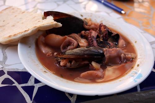 Seafood tajine