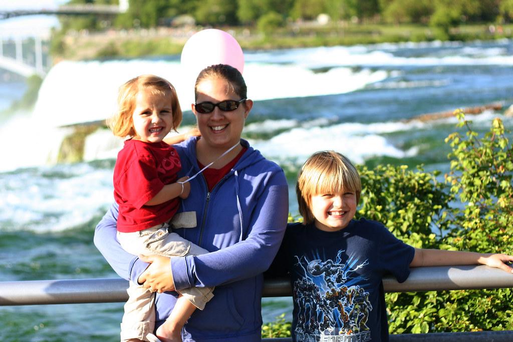 American Falls behind us