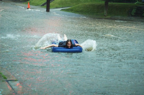 Rafting in the street (4)