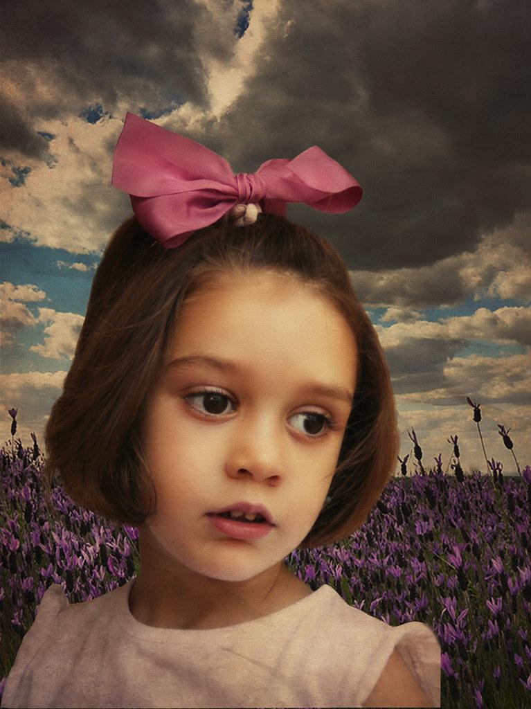 Retrato en lila