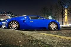French beauties... ([ JR ]) Tags: blue paris tower night long exposure tour shot eiffel bleu exotic 164 bugatti trocadero supercar eb veyron fialeix