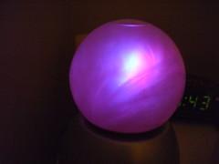 Glowing crystal ball light (jon_a_ross) Tags: crystalball swirlinglight sandinaglassball