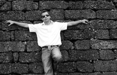 Bring it on, life! (mercurian) Tags: portrait india white black male june lumix model fort goa panasonic jail 2009 nabil aguada dmcfz28k valiulla