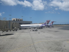 Honolulu airport - Hawaiian Airlines planes