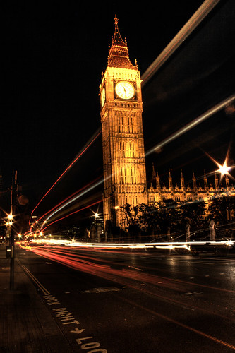 Big Ben. Vista nocturna. Night view.
