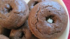 Baked Vegan Glazed Chocolate, Chocolate Chip Doughnuts