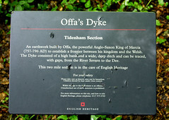 Offa's Dyke Sign - English Heritage