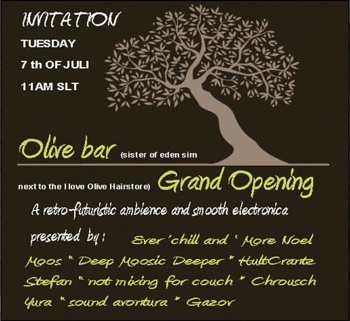 OLIVE BAR : july 7th, tuesday