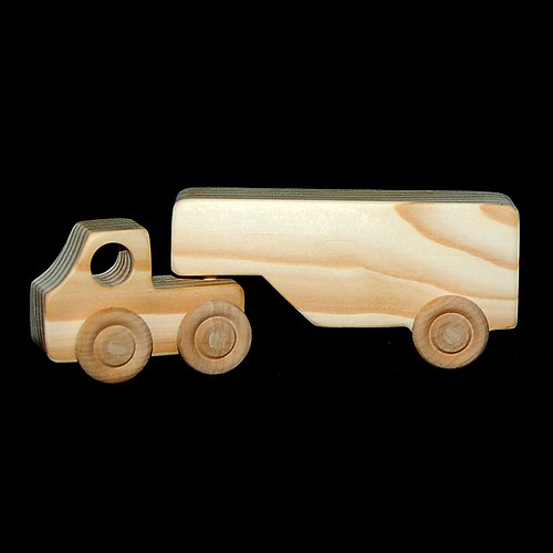 Wood Toy Semi Truck