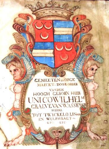 cartouche kaart Azelo Oele