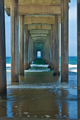 Under Scripps Pier (MissMae) Tags: ocean blue summer color beach water pier sandiego lajolla savagephotography
