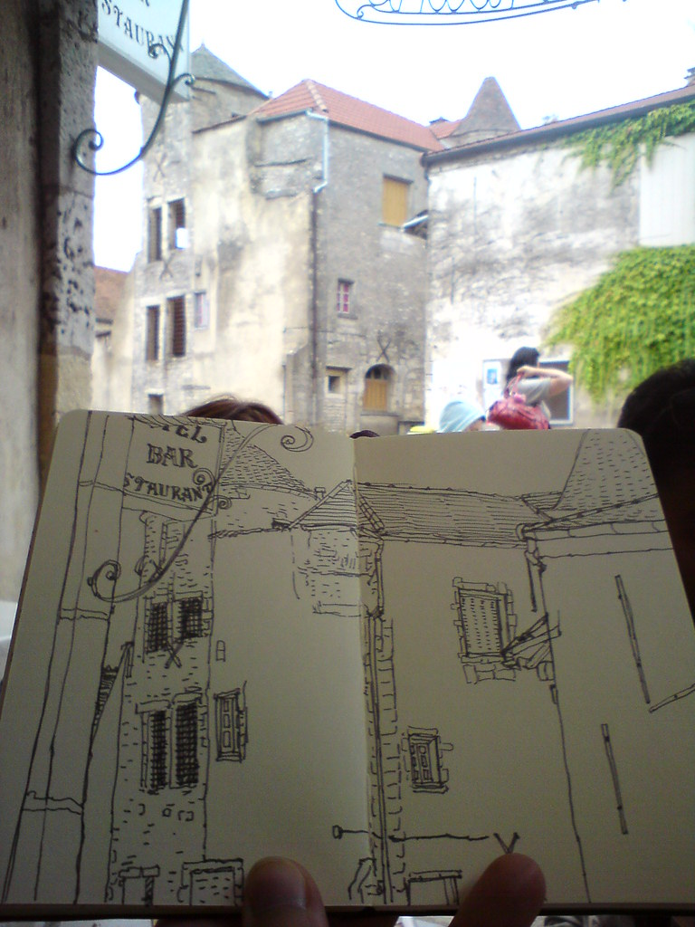 Sketching in Flavigny